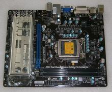 100% original Desktop motherboard for MSI H61M-P35 DDR3 LGA 1155 All solid capacitors free shipping