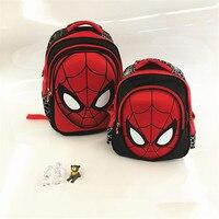 2017 New 3D Stereo Spider Man Cute Backpack Children S New School Bag Boys Backpack Kids