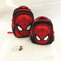 2017 New 3D Stereo Spider Man Cute Backpack Children S New School Bag Boys Backpack Kids