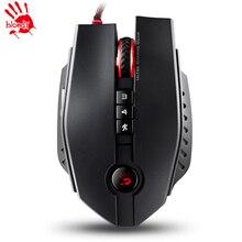 A4tech кровавый zl50 лазерная игровая мышь 11 кнопки 8200 точек/дюйм частота кадров: 12000 КАДРОВ В СЕКУНДУ для WOW CF LOL dota, бесплатная доставка