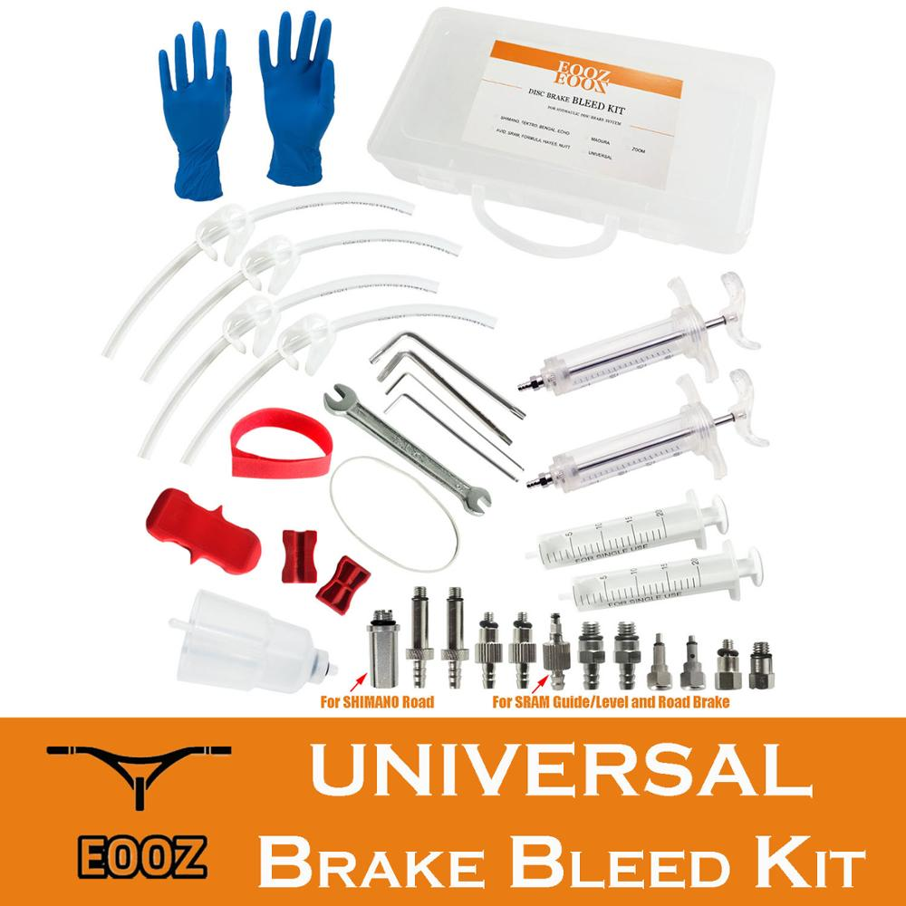 Bicycle UNIVERSAL Bleed Kit Hydraulic Disc Brake tool For SHIMANO TEKTRO MAGURA AVID SRAM FORMULA HAYES NUTT ZOOM with Funnel in Bicycle Repair Tools from Sports Entertainment