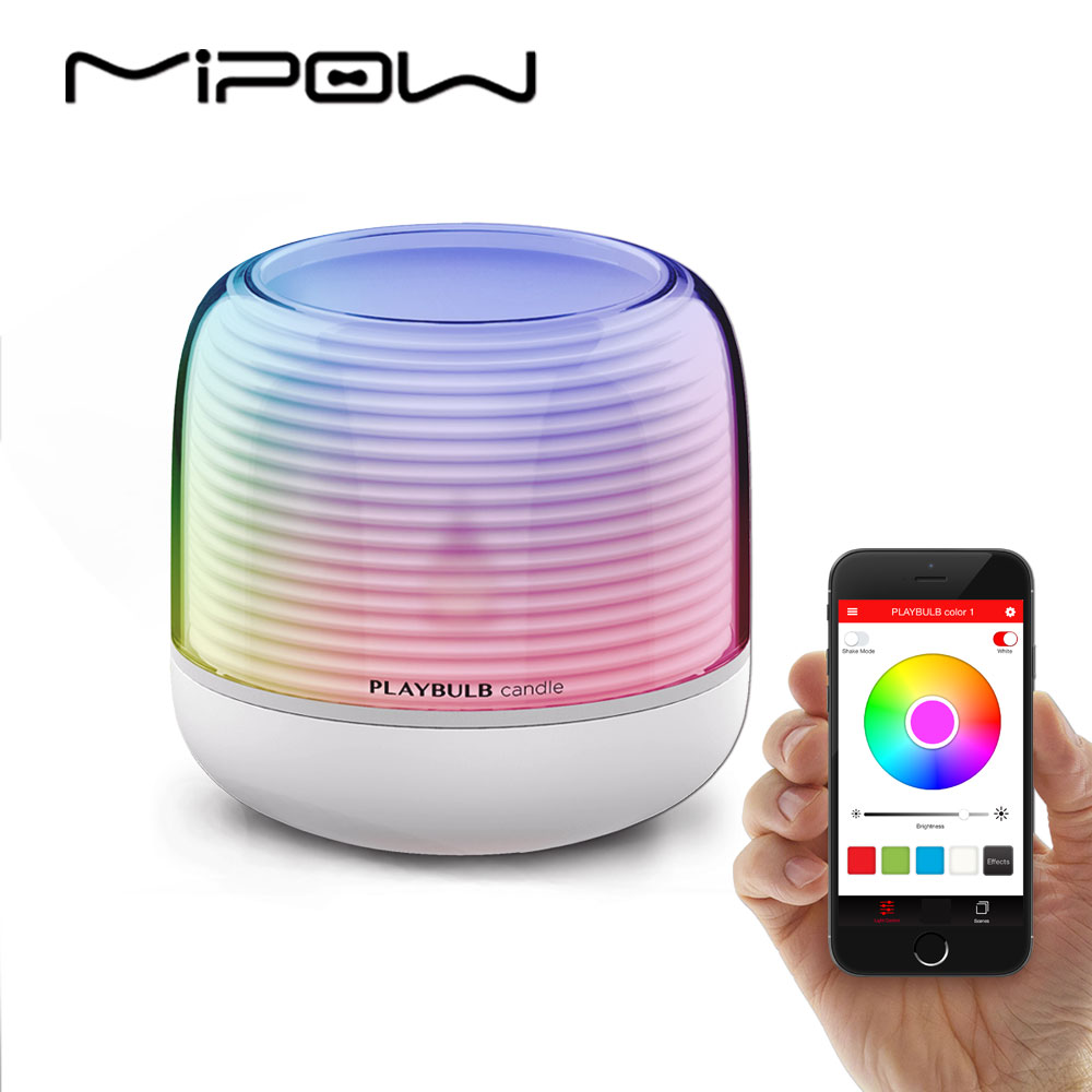 PLAYBULB Smart Remote Candle USB Charge Candle Holders Timer RGB Changeable Light Color Flameless LED