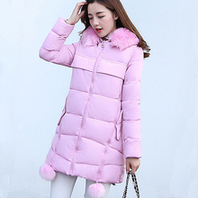 2018 New Winter Jacket women large size in the long section down cotton parka women fashion slim jacket  thick winter coat цены онлайн