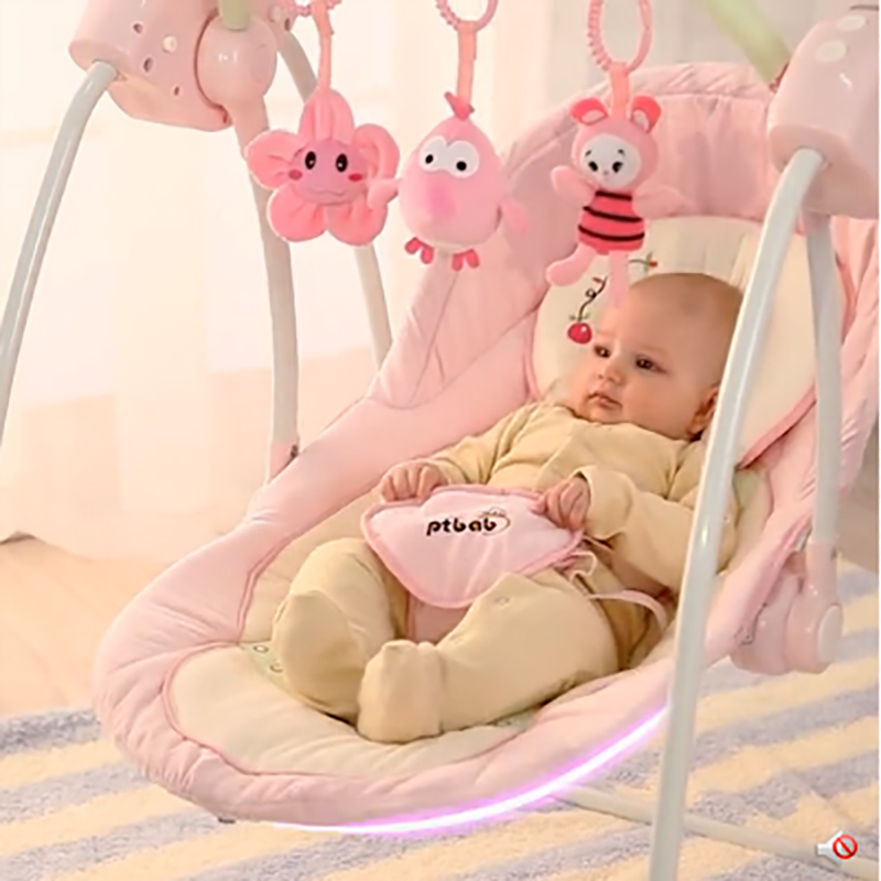 Ptbab baby rocking chair electric baby rocking chair child cradle bed placarders concentretor rocking chair chaise lounge