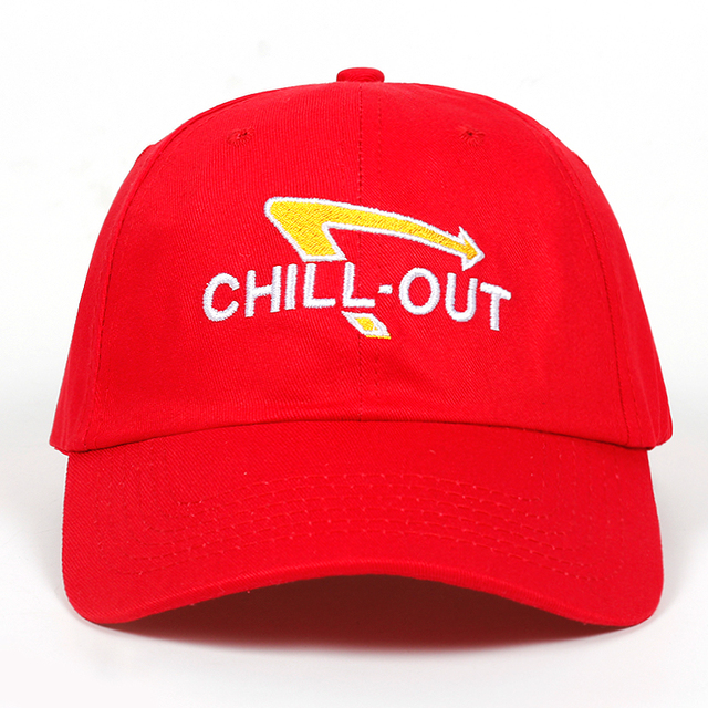 8abbffd7404 2018 new High Quality Chill Out embroidery dad hat Cotton Baseball Cap For Men  Women Hip Hop Dad Hat Bone Garros