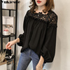 white woman blouses summer women's shirt blouse for women blusas womens tops and blouses lace chiffon shirts ladie's plus size 1