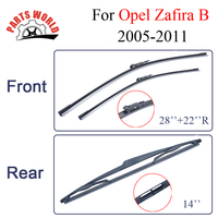 Combo Silicone Rubber Front And Rear Wiper Blades For Opel Zafira B 2005 2011 Windscreen Wipers