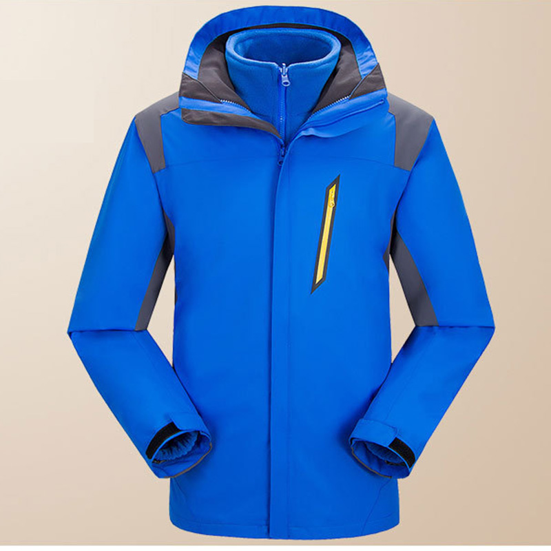 Men Women Winter Outdoor Camping Hiking Jackets Waterproof Hiking Clothing Warm windbreaker Jackets Triple Two-piece Suit