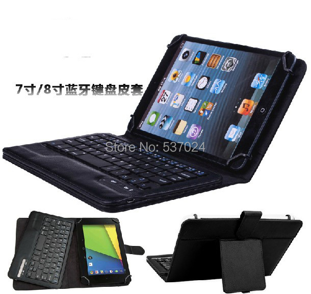 New Removable Bluetooth Wireless Keyboard Folio Stand Leather Case Cover For Ipad Mini 1 2 3 4 Mini2 7 - 8 A1000 A3000 A3300 universal removable wireless bluetooth keyboard pu leather case cover stand for 7 8 inch tablet pc with free stylus