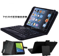 New Removable Bluetooth Wireless Keyboard Folio Stand Leather Case Cover For Ipad Mini Mini2 7 8