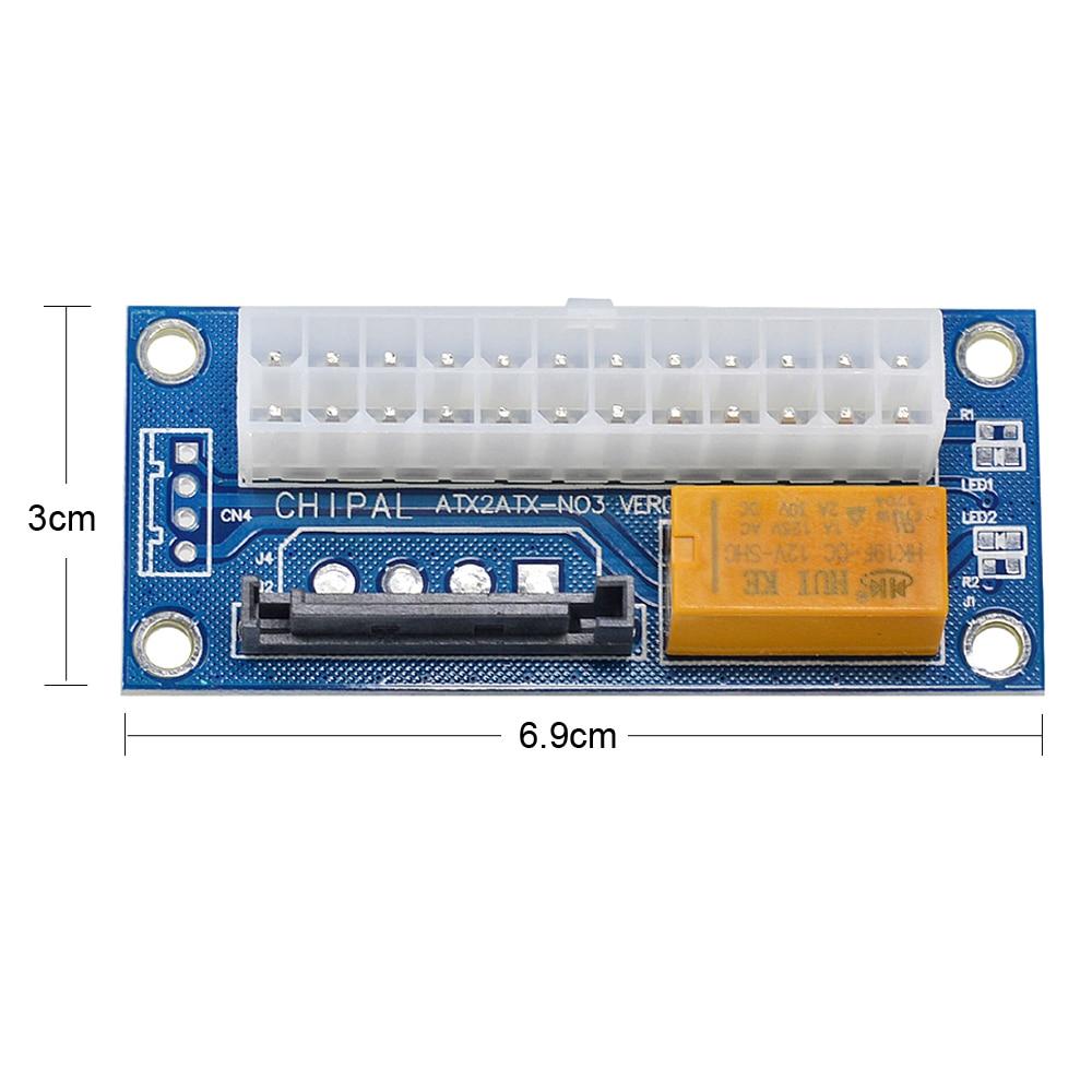 30cm PSU ATX 24Pin Male to Female Dual Molex Mining Power Supply Sync Starter for Bitcion Miner
