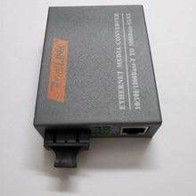 RJ45 HTB GS 03 1000 Mbps Netlink Fibra Óptica Conversor de Mídia de Ethernet Gigabit SC Single Mode Duplex