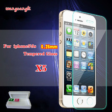 0.3mm Super Thin Tempered Glass for iPhone 6 6S Transparent Screen Protector for iPhone 4 4s 5 5s 6 7 Plus with Clean Tools стоимость