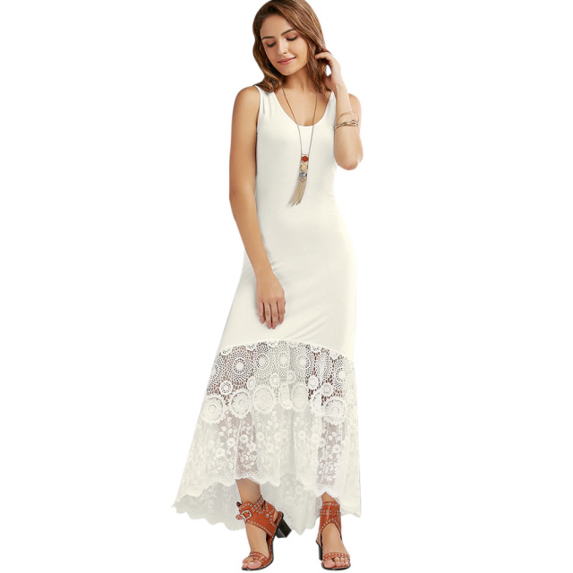 White Fitted Maxi