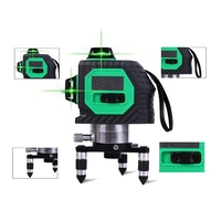 3D 12Lines Green Laser Levels Self Leveling 360 Horizontal And Vertical Cross Super Powerful Green Laser Beam Line