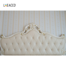 Laeacco Leather Headboard Diamond Pattern Luxury Photography Backgrounds Customized Photographic Backdrops For Photo Studio