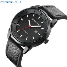 CRRJU new sport men's watch Top quartz date watch super personality large dial sports waterproof men essential products