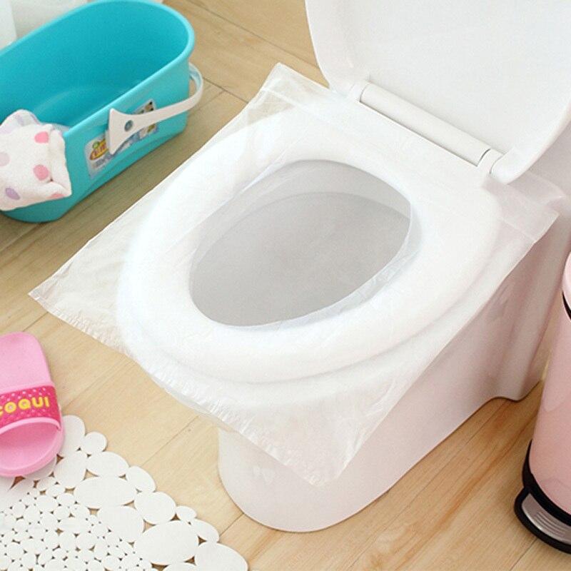 50 Stücke/100 Stücke Reisesicherheit Kunststoff Einweg Toilettensitzabdeckung Wasserdichte 40*48 cm