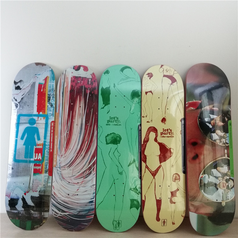7.5inch-8.25inch High Quality Professional Canadian Maple Graphics Skate Board Deck Inch FUNNY Shape Skate for DIY Skateboard 6 5 adult electric scooter hoverboard skateboard overboard smart balance skateboard balance board giroskuter or oxboard