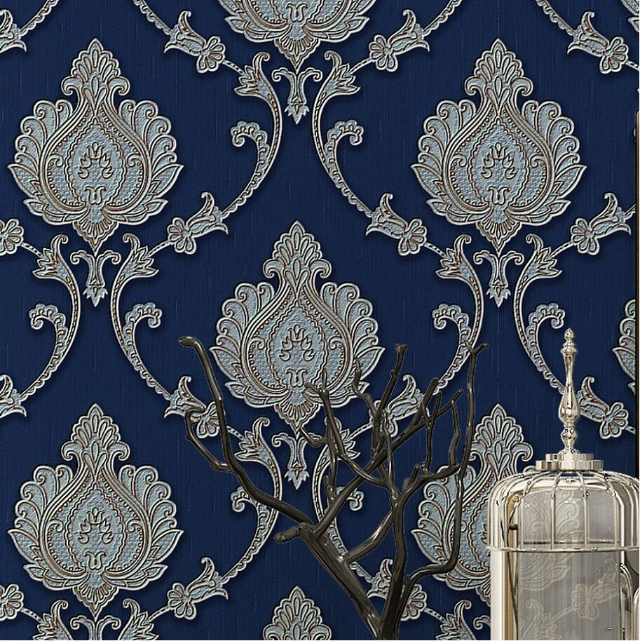 Fashion embossed wallpaper 3d wallpaper tv background wall for Where can i purchase wallpaper