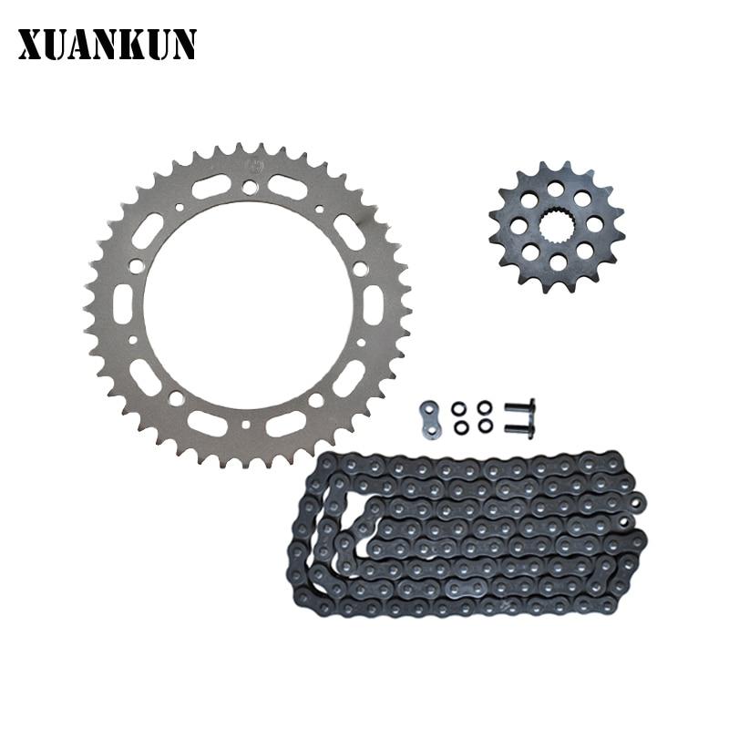 XUANKUN accessoires de moto LX650 ensembles de chaîne CR9 avec chaîne de joint d'huile/plaque de chaîne
