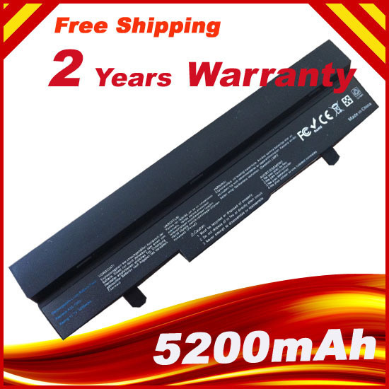 6 cells 5200mAh  LI-ion Battery for Asus Eee PC EEEPC 1005 1005H 1005HA 1001 1001HA 1001P 1001PX 1101HA Black
