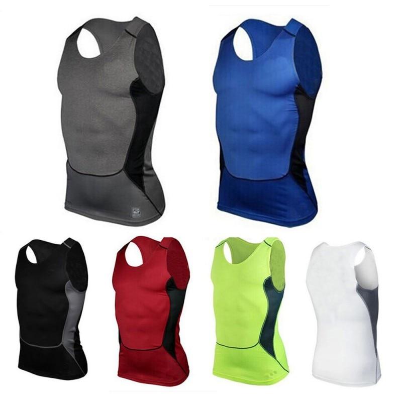 Shirt Fitness Compression-T-Shirts Sports-Vest Sleeveless Mens Gym S-XXL High-Quality