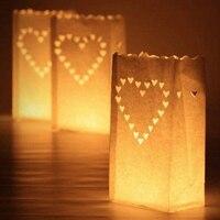 2016 New 30 Pcs Tea Light Holder Luminous Paper Lantern Candle Bag For Party Wedding