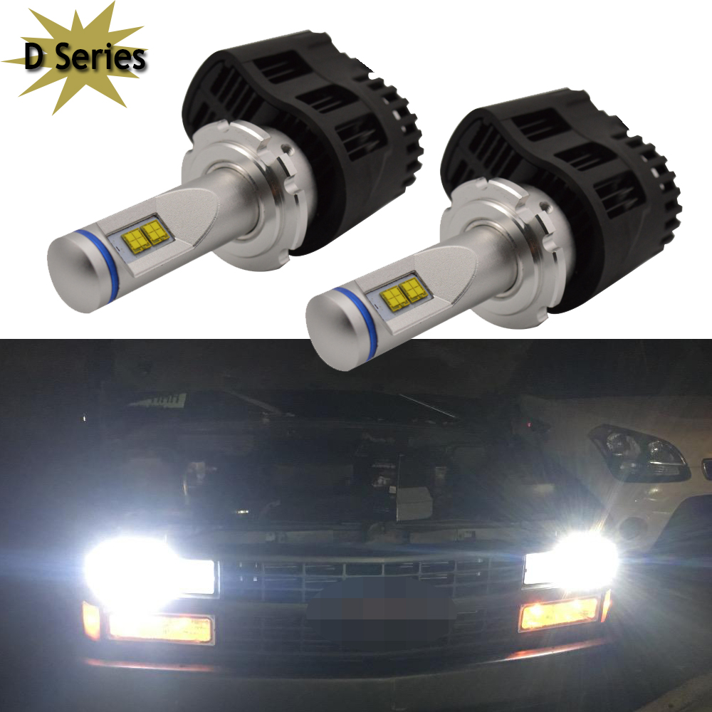 D1 D2 D3 D4 S/R D2R D2C D4S D4R D4 D3S Car LED Headlight Bulbs 110W 10400LM 6000K White 12V OEM Replacement Halogen Hid bulbs 2pcs d1 d2 d3 d4 d2s d2r d2c d4 car led headlight conversion kit 110w 10400lm 6000k white light bulbs