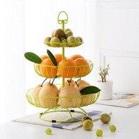 النمط الأوروبي ثلاثة طبقة الفاكهة سلة الحاويات الحلوى الجافة علبة الفاكهة بذور البطيخ أطباق المائدة تخزين الرف