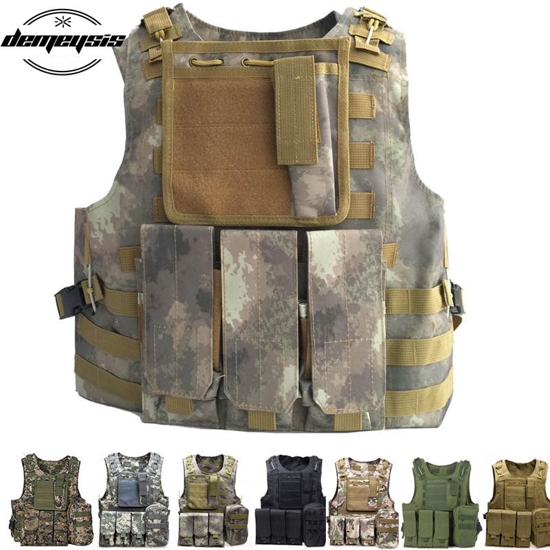 Tactical Molle Vest Military Airsoft Paintball Assault Vest Adjustable Lightweight tactical vest