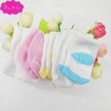 Dolls accessories Soft cotton white socks Baby toys fit 18 inch Girls doll and 43 cm baby (pack of 6 pairs for sale) w1