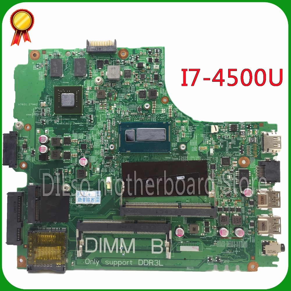 KEFU For Dell 5437 DELL 3437 MB12314-1 PWB:VF0MH REV:A00 laptop motherboard dell 5437 motherboard with i7-4500u 100% tested