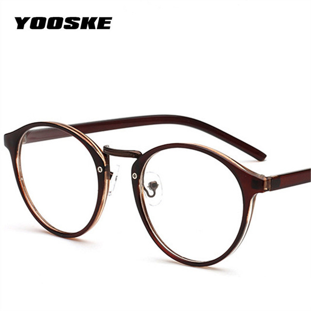 yooske optical glasses frame glasses with clear glass brand round men women clear fashion transparent glasses