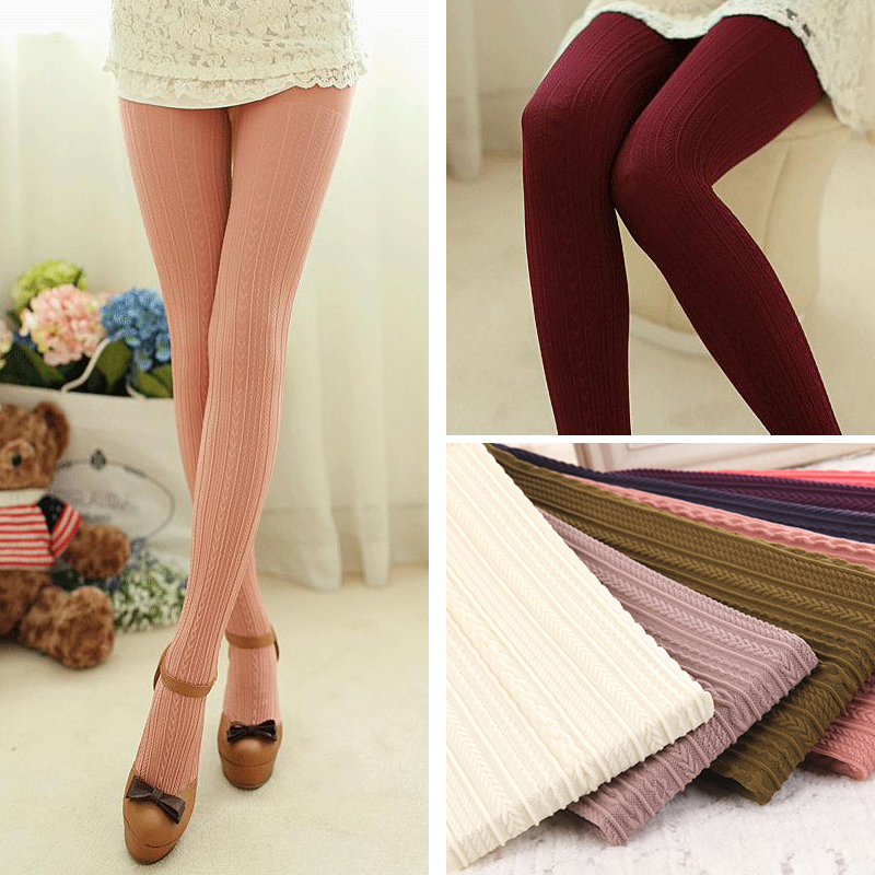 W7842 autumn and winter womens tights candy colors 160D velvet pantyhose skinny , warm and added stretch