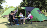 Hot Selling Double layer 2 room,1 hall,5 8 person Tent,CZX 022B cabin tent,family size tent,5 8 Person 2 room tent