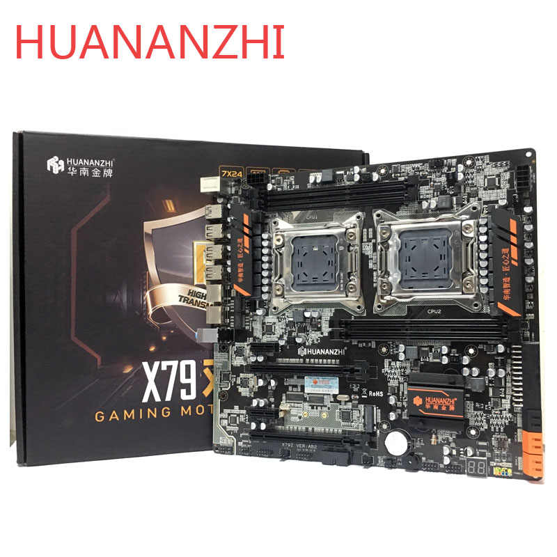 HUANANZHI huananzhi X79 dual CPU LGA2011 LGA 2011 moederbord met dual processor DDR3Suitable voor server CPU en server geheugen