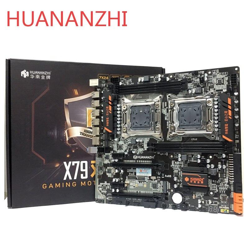 HUANANZHI huananzhi LGA2011 X79 dual CPU LGA 2011 motherboard com dual DDR3Suitable para servidor processador CPU e memória do servidor