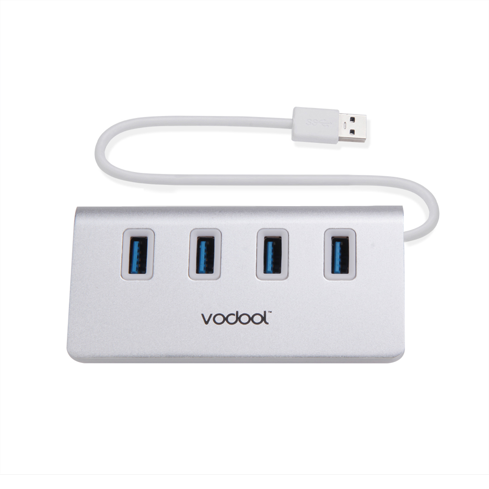 Portable USB Hub 4 Ports USB 3.0 Aluminum Alloy hab for digital cameras/ phones/external ...