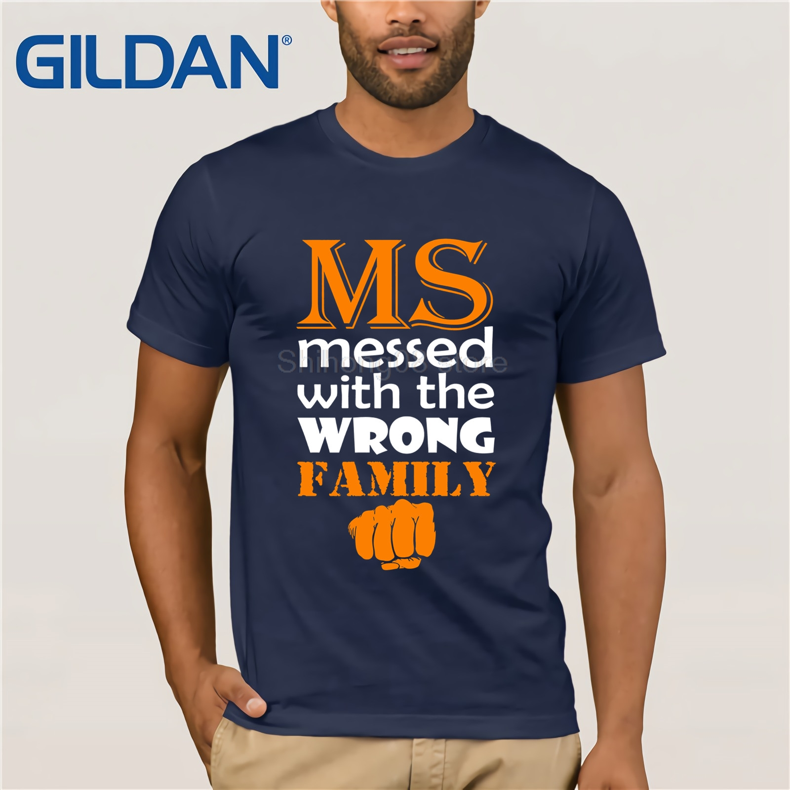 c3dc0fa6 GILDAN MS Messed With Wrong Family Multiple Sclerosis Awareness Tee Icon  Emoji Fashion Design T Shirt summer T shirt-in T-Shirts from Men's Clothing  on ...