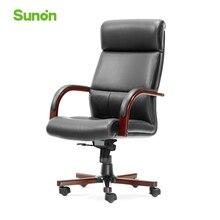 Sunon с высокой спинкой деревянное кожаное игровое Кресло Поворотное подъемное Новое поступление компьютерные кресла эргономичные офисные с подголовником SPE03KCTG