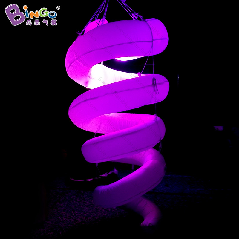 Customized 1.5 meter lighting inflatable spiral decoration color change blow up LED spiral replicas for mall light-up toyCustomized 1.5 meter lighting inflatable spiral decoration color change blow up LED spiral replicas for mall light-up toy