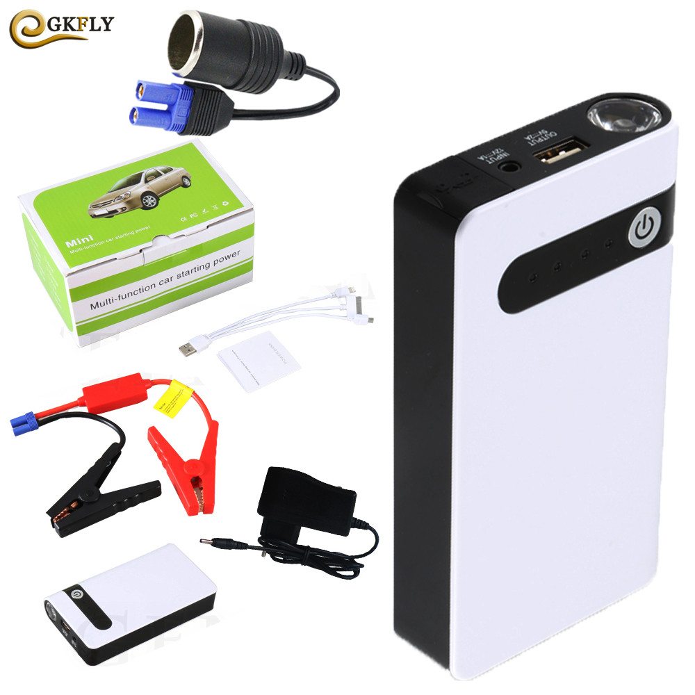 Mini Jump Starter 12V Battery Booster Car Battery Booster Buster Starting Device Multi-Function Car Charger Portable Power Bank