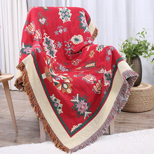 Fashion soft warm chunky knitted cotton blanket with Tassels brand Home Decor sofa bed plaid thick winter throw 130x180