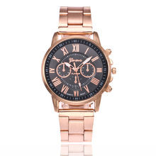 2018 Top Brand Luxury Watch Women Fashion 3 Eyes Rose Gold Geneva Dress Watches Stainless Steel Quartz Watch Relogio Feminino цена и фото