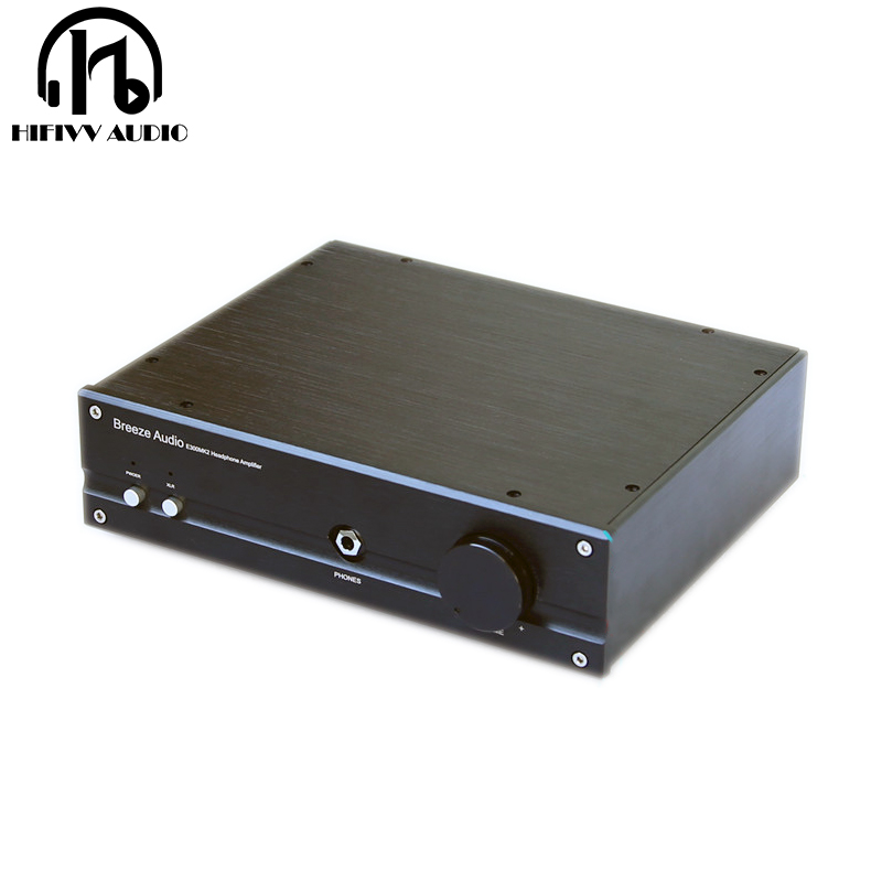 hifi E300MK2 class A headphone power amplifier for No Noise At HiFi Stereo earphone Amp XLR/RCA input