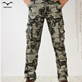 Активный 2017 Мужчин Весна Army Green Мода Cargo Pants Промежность бегуном Лоскутные Брюки Мужчины Легко Мыть Большой Камуфляж Грузовые Брюки