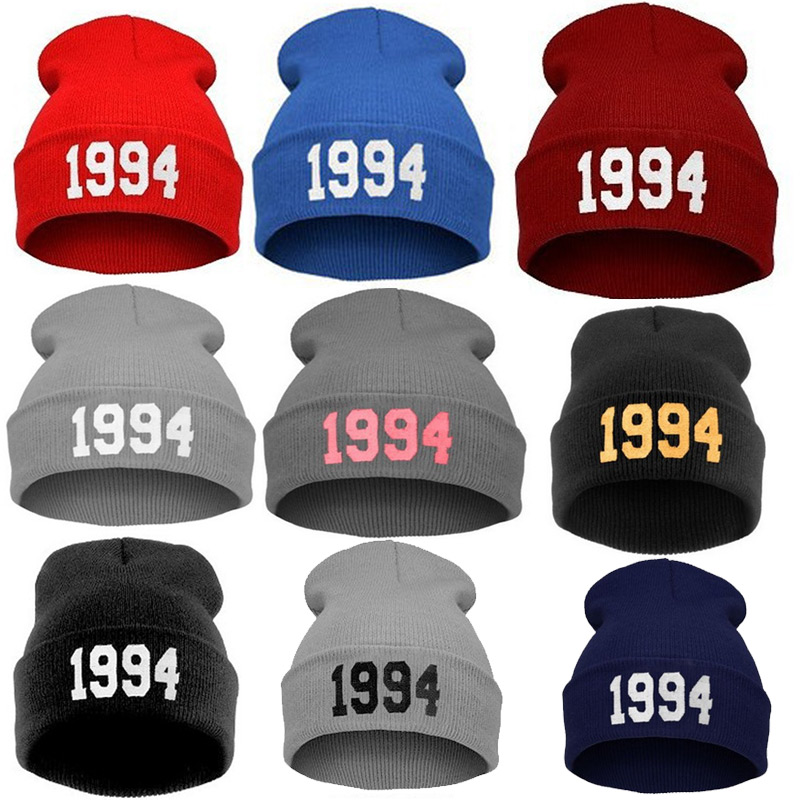 Fashion Numbers 1994 Knitted Beanies Hats Women Men Cap Casual Hat Wool Cap Hip Hop Street Dance Ski Caps H9