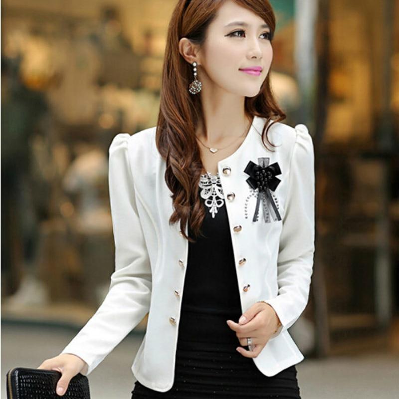 2019 Spring Short Women Summer Style Autumn Plus Size Clothing Outerwear Slim Women's Coat Jacket Feminino Women Blaser