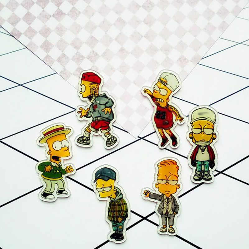 1 PC Acrylic Bros Kartun Anime Jepang Keren Simpson Bros Ransel Mahasiswa Pakaian Bros Tas Dekorasi Bros Lencana